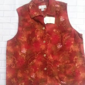 C.J Banks Plus Size Colorful Vest Jacket  1x